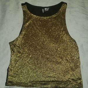 Shiny crop top